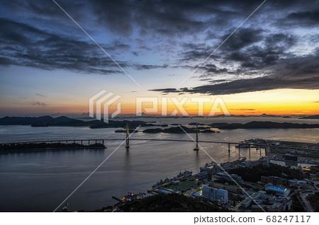 Mokpo Bridge after Sunset 68247117