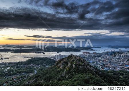 Yudalsan mountain sunset 68247212
