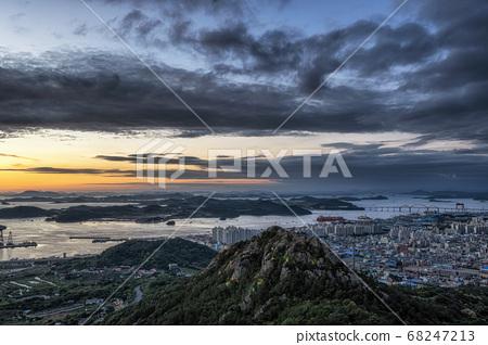 Yudalsan mountain sunset 68247213