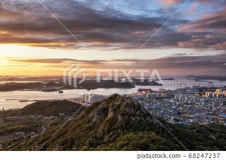 Yudalsan mountain sunset 68247237