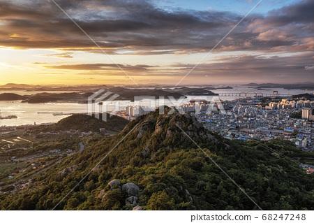 Yudalsan mountain sunset 68247248