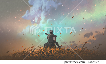 The lonely song of the land of grasslands 68247468