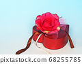 Rose flower and heart box 68255785