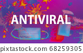 Antiviral theme with face mask and spray bottle 68259305
