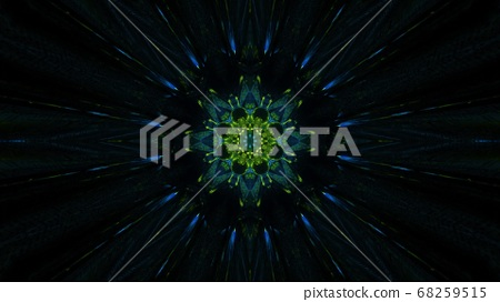 Stylish Green Nature inspired Portal 3d illustration background 68259515