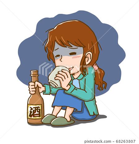 酗酒女性 68263807