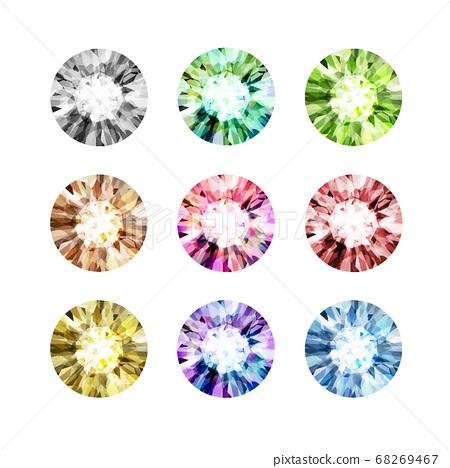 鑽石寶石多彩設置圖 68269467
