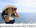 해변에서 오페라를 사용 유아 (5 세) 68270003