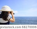 해변에서 오페라를 사용 유아 (5 세) 68270006