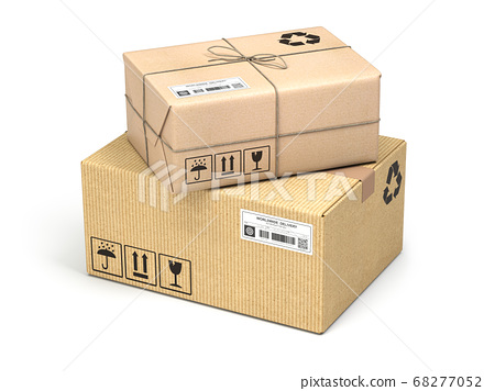 Cardboard boxes of different types and sizes 68277052