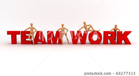 Team Work (With clipping path) 68277313