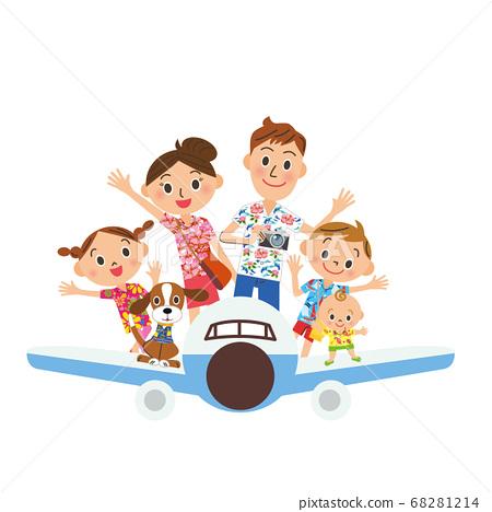 乘飛機旅行,家庭夏威夷襯衫 68281214