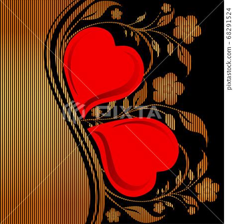 vector illustration of a golden striped floral 68291524