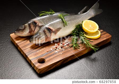 Fresh seafood Sea Bass fish  68297858