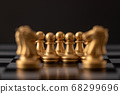 gold horse of the chess 68299696
