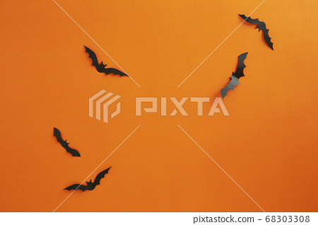 Halloween and decoration concept paper bats flying 68303308