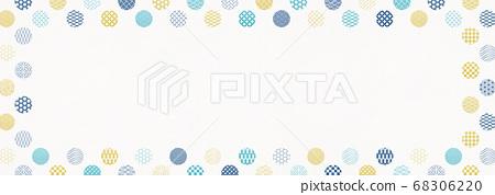 일본식 디자인 배경 소재 - 물방울 - 마루 - 패턴 - 섬유 68306220