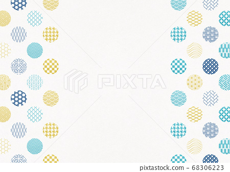 일본식 디자인 배경 소재 - 물방울 - 마루 - 패턴 - 섬유 [XL에서 A3-350dpi] 68306223