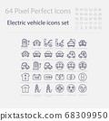 Battery Electric Vehicle Icon.(BEV,EV).Electric 68309950