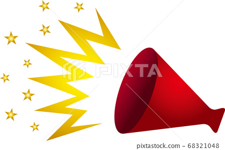 Red megaphone vector 68321048