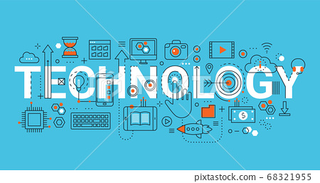 Concept of technology, for graphic and web design 68321955