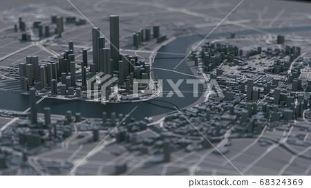 Shanghai city 3d map 68324369