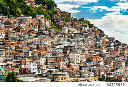 Favela Cantagalo in Rio de Janeiro, Brazil 68325676