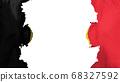 Blasted Belgium flag 68327592