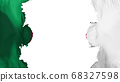Blasted Algeria flag 68327598