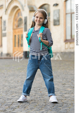Musical experiences during childhood. Happy kid 68330065