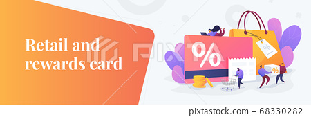 Discount and loyalty card web banner concept. 68330282