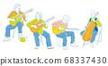 吉他,低音提琴樂器演奏者,音樂向量插圖 68337430