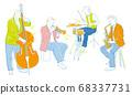 演奏樂器的人物,音樂向量插圖 68337731