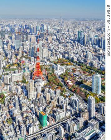 도쿄의 거리 공중 촬영 68339839