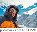 man making selfie at Himalaya mountain Everest 68341591