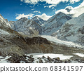 Himalaya mountains landscape 68341597