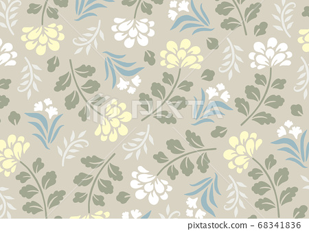세련되고 우아한 베이지 색 꽃 무늬 68341836