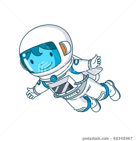 Cartoon character of astronaut floating, Vector illustration. 68348967