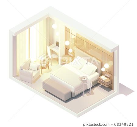 Vector isometric hotel room 68349521