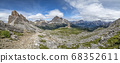 five towers mountain in dolomites panorama 68352611