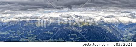 dolomites view from plan de corones in summer 68352621