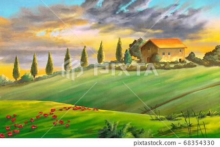 Rural landscape 68354330