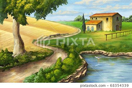 Rural landscape 68354339