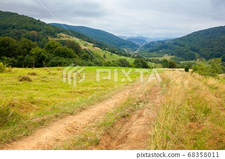 country road through rural field. suburban summer 68358011
