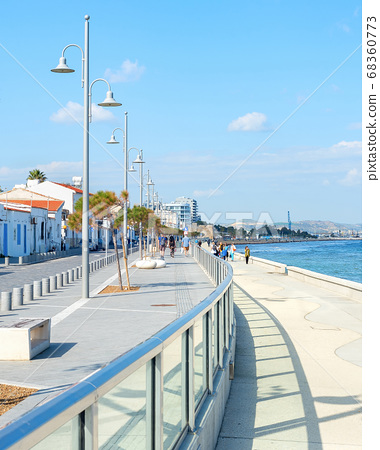 People walking,embankment, Larnaca, Cyprus 68360773