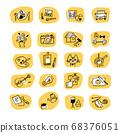 다양한 취미 · 라이프 스타일 아이콘 세트 68376051