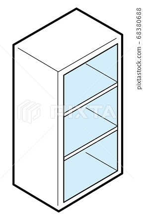 Color box shelf that contains nothing 68380688