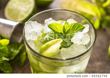Mojito cocktail drink with white rum lime mint 68382748