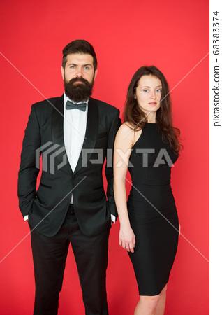 Award ceremony concept. Bearded gentleman wear 68383374