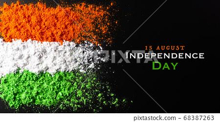 Indian Independence Day celebration background 68387263